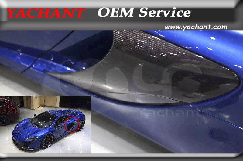 Автомобиль Стайлинг авто аксессуары сухой углеродного волокна сбоку воздухозаборника подходит для 2011 2014 MP4 12 C 650S Conversion сбоку фланец воздуховода