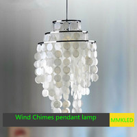 NEW Natural shell dining pendant lamp bedroom Hanging lamp, Wind Chimes pendant light E27 AC110 240V