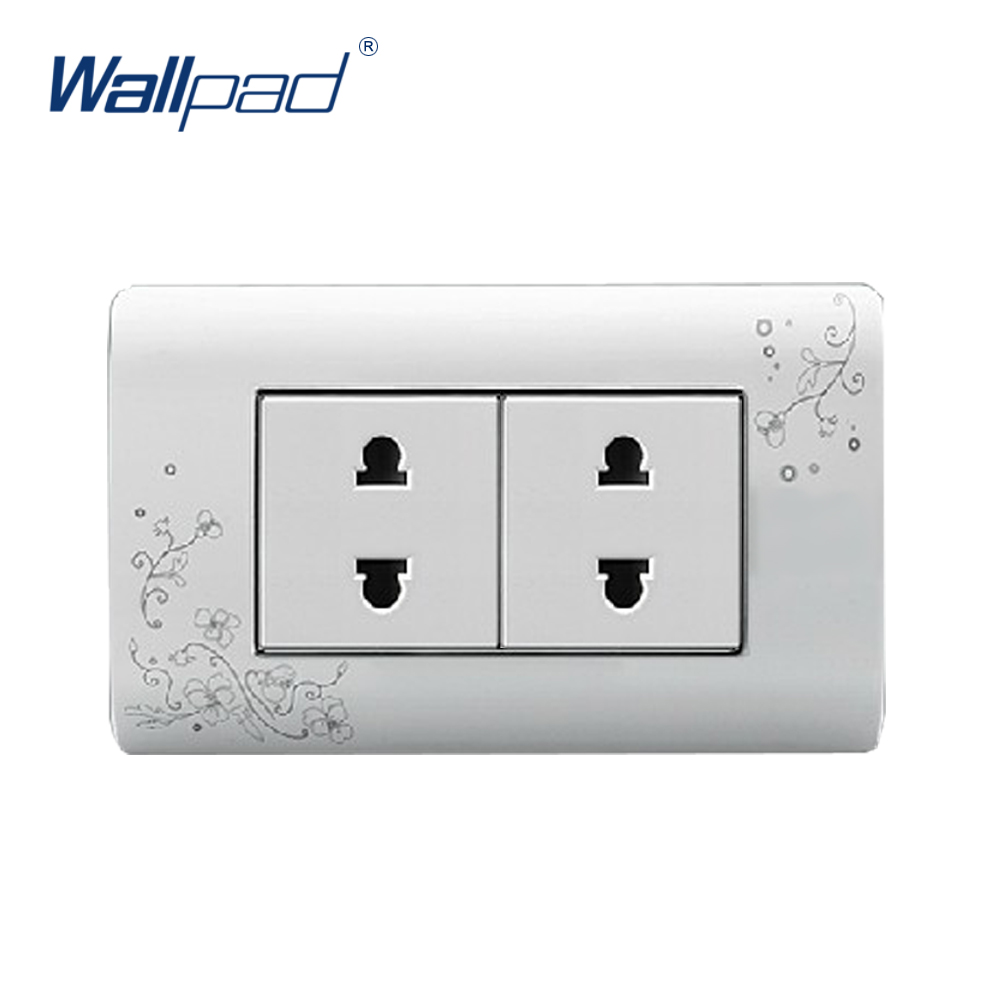 2018 Hot Sale 4 Pin Socket Wallpad Luxury Wall Switch Panel Socket 118*72mm 10A 110~250V
