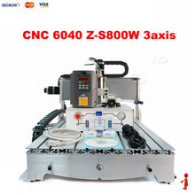 Factory CNC ROUTER 6040 3 Axis 800W CNC Milling Machine With Ball screw for woodworking guitar furniture