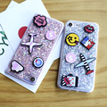 Lovely Phone Case For iPhone 7 7 Plus Ultra Thin TPU Cartoon Glitter Powder Cover For iPhone 7 7 Plus Sweet Lover Capa Fundas