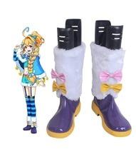 Monster Strike Nostradamus Cosplay Boots Shoes Custom Made Halloween Carnival Party Makeup douglas coupland hey nostradamus