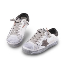 Size 21-35      2016 Fashion boys leather shoes girls sneakers children sport shoes kids running shoes children brand shoes