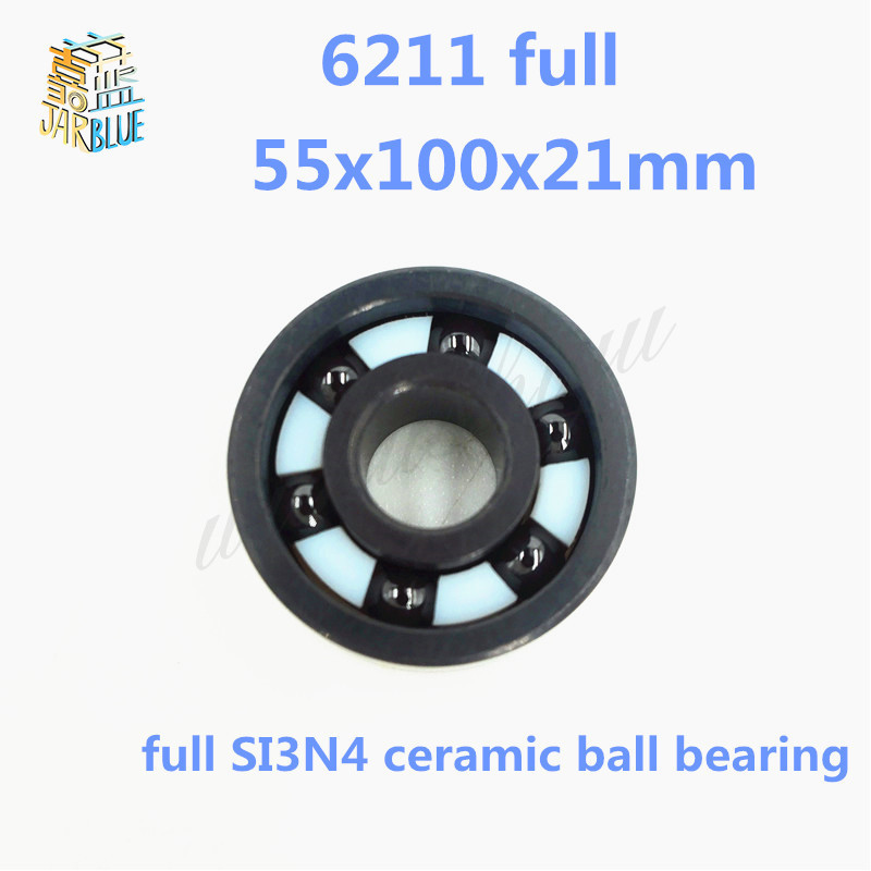 Free shipping high quality 6211 full SI3N4 ceramic deep groove ball bearing 55x100x21mm free shipping high quality 6216 full si3n4 ceramic deep groove ball bearing 80x140x26mm