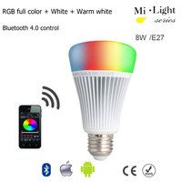 Milight E27 8W Bluetooth 4 0 LED Light RGB Color Temperature Control With Samrtphone Remote Romantic