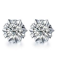 925 Sterling Silver Stud Earrings Hypoallergenic Snowflake Dazzling Cubic Zirconia Earrings Fashion Jewelry For Women