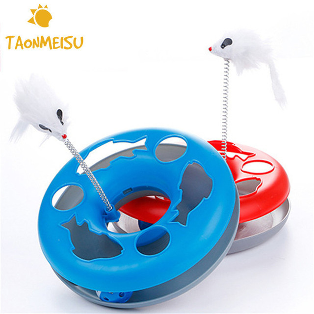 Pet Cat Toys Single - layer  Kettle Spring Mice Crazy Amusement Disk Multifunctional Disk Play Activity funny mice amusement disk Funny Mice Amusement Disk Cat Toy HTB1PwhNaAfb uJkSne1q6zE4XXaF