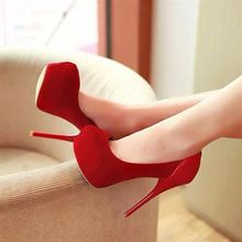 Designer Shoes For Womens Pumps Cheap Modest High Thin Heels Red Ladies Party Shoes Chaussures Femme Plus Size Ladies Shoes Sexy