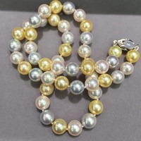 8 8.5MM natural sea water pearl choker necklace multi color akoya pearl necklace classic fashion women jewelry