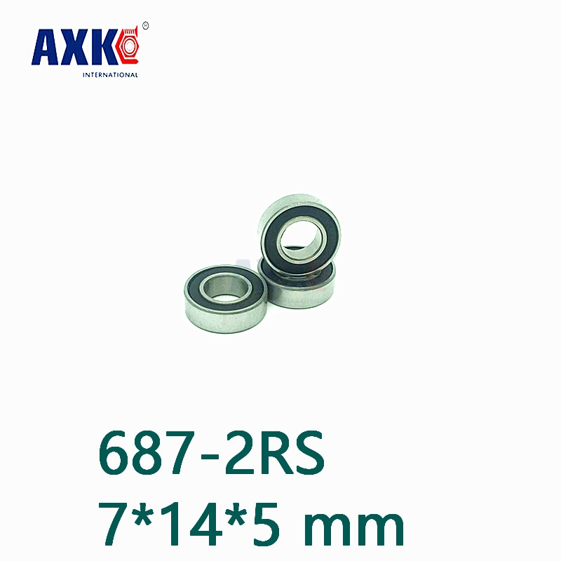 Axk 687-2rs Hybride Keramische Lagers 7*14*5 Mm Abec-1 (1 Pc) industrie Motor Spindel 687hc Hybriden Si3n4 Kogellagers 3nc 687rs