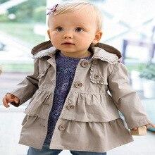 цена на Baby Girls Coat Spring Autumn Jacket For Girls Hooded Outerwear Coats Kids Clothing Fashion Infantil Windbreaker 1 2 3 4 5 Years