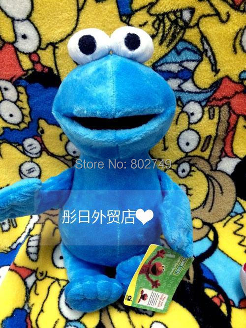 Sesame Street Plush Toys Cookie Monster 30cm Original Toys PP Cotton