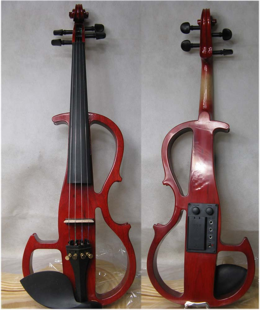 4/4 High quality  Electric violin  red  9# 4 4 high quality 5 string electric violin yellow 2 pickup violin