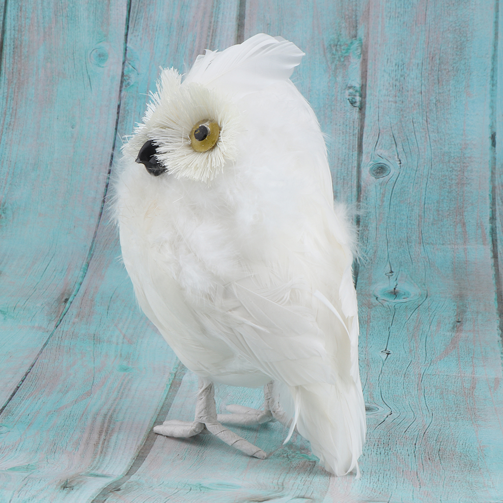 Lovely Plush Furry White Owl, Kids Animal Toys Decorative Artificial Animals Model, Gifts
