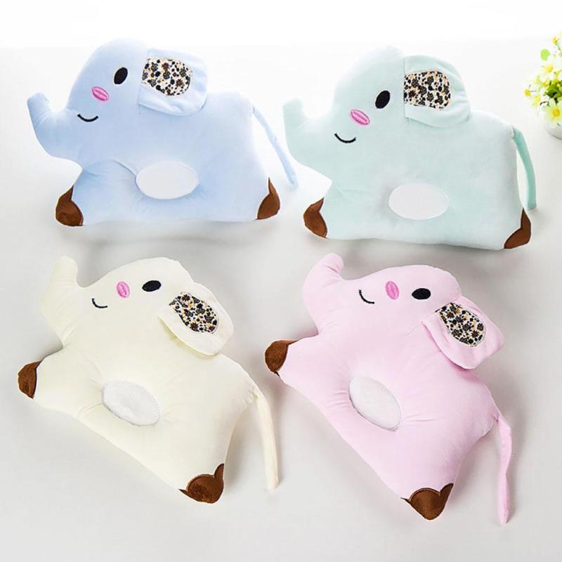 Cute elephant shape Baby Pillow Infant Newborn Sleep Positioner Prevent Flat Head Shape support RA5-12H