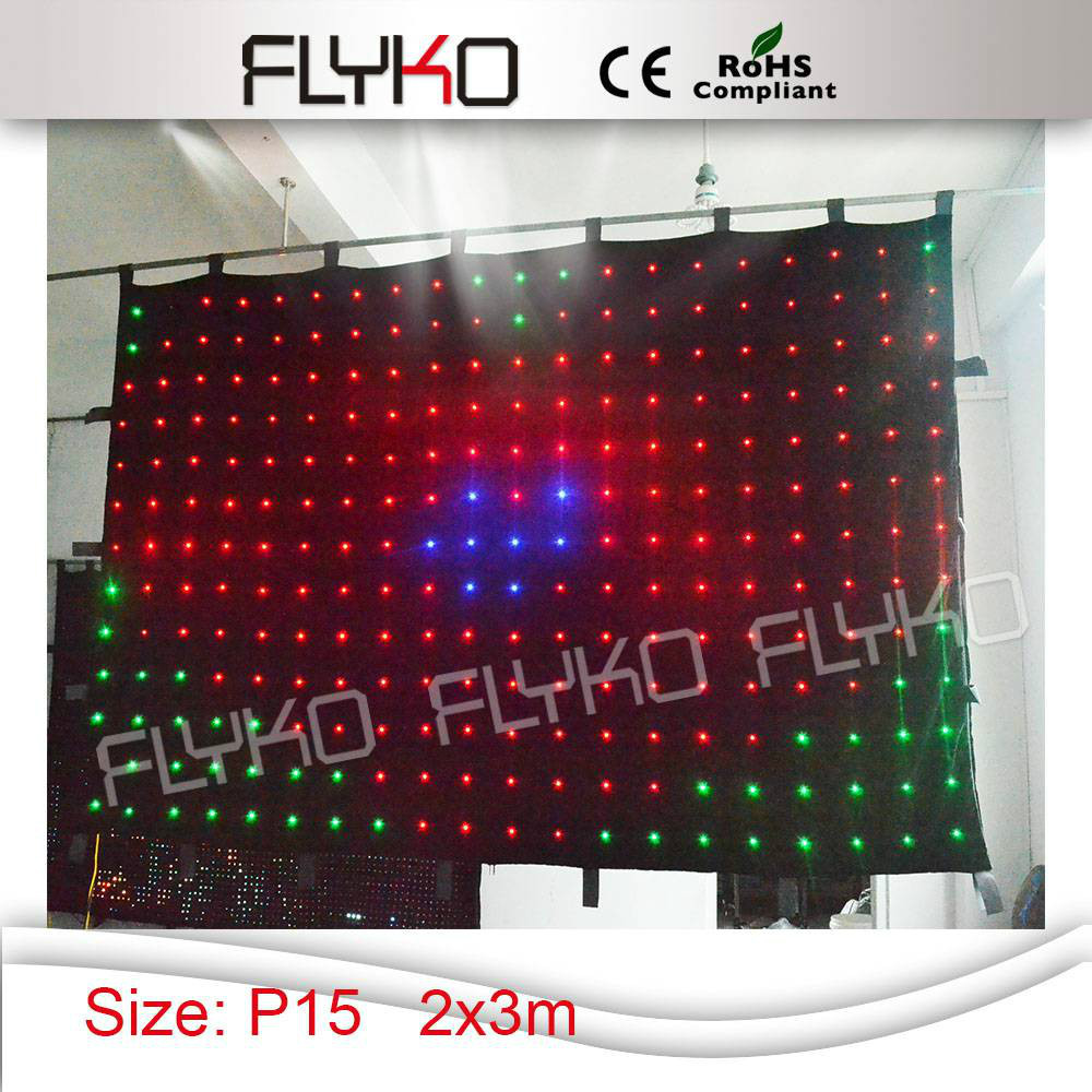Free shopping P15 2x3m flexible and clear image led video curtain screen ...