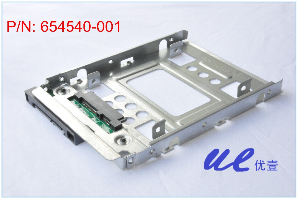2.5 SSD to 3.5 SATA adapter Tray Converter SAS HDD Bracket Caddy HP 654540-001, free shipping new high quality bracket tray caddy dustproof dust prevention for hp microserver gen8