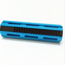 SHS полный стальной 19 зубчатый поршень алюминиевый синий для страйкбольный привод гирбокс Ver 2/3