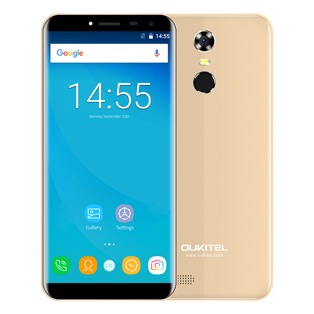 OUKITEL C8 4G Smartphone Android 7.0 5.5 Pouce MTK6737 Quad Core 1.3 GHz 2 GB RAM 16 GB ROM Capteur Tactile 8.0MP Arrière Caméra Téléphone Portable