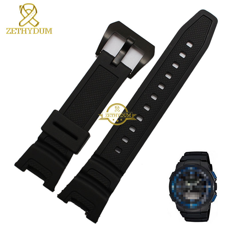 Silicone Rubber watchband watch strap bracelet wristband mens Wrist watch band sport wristwatches belt for SGW-100Silicone Rubber watchband watch strap bracelet wristband mens Wrist watch band sport wristwatches belt for SGW-100