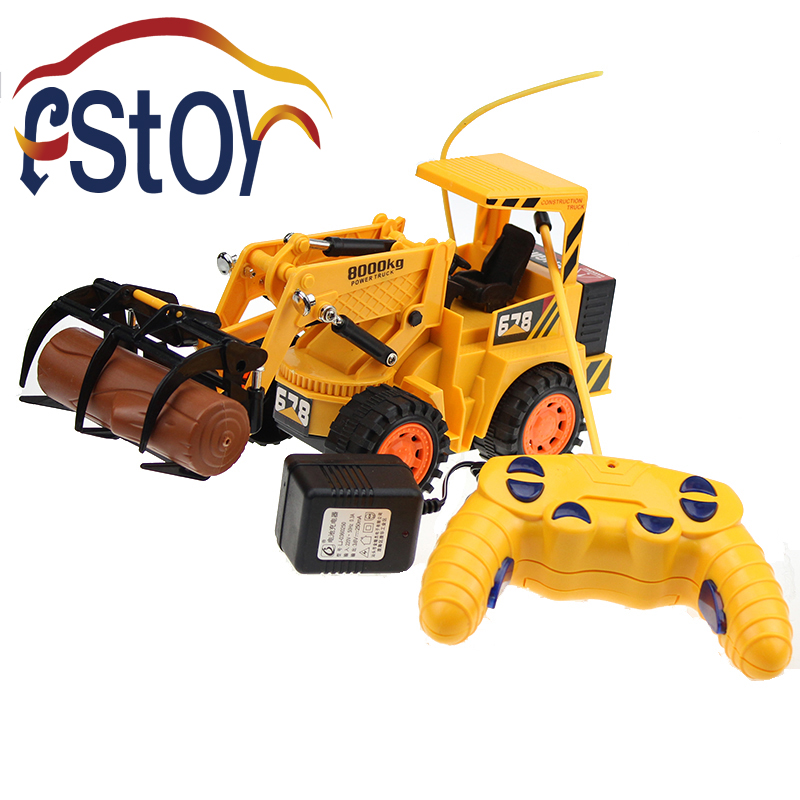 RC Toy RC Logging Fork Truck Wireless 5CH 1:16 Timber Grab 4 Wheels Engineering Electronic Toys детский вертолет на радиоуправление new brand 2 5ch i r rc 44913