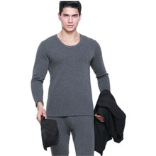 British Gentleman Winter Thermal Underwear For Men Sets Of Underwear Round Neck Layered Clothing Long Johns Men Pajamas Thermos
