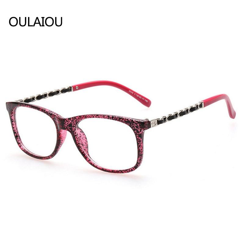 2017 Hot Optical Plain Mirror Small Eyeglasses Frames Men Women ...