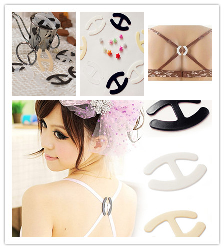 3 PCS Charming Hide Converter Women's Push Up Cleavage Control Invisible Bra Strap Belt Clip Buckle Non-slip Buckle image