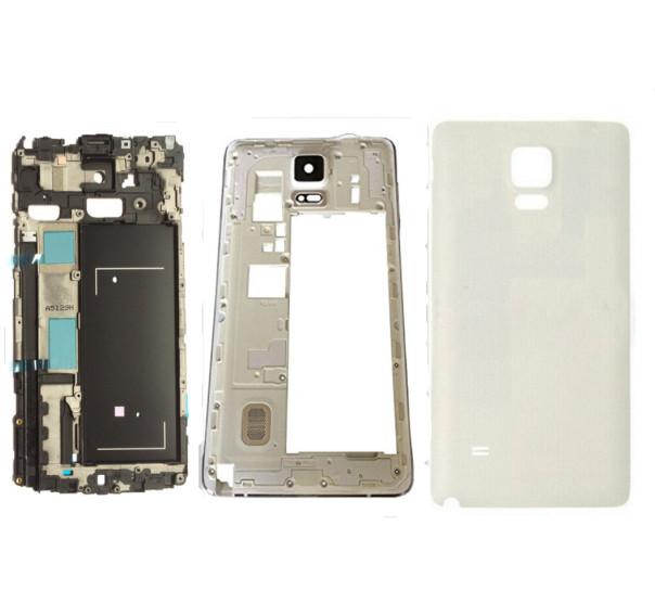 Original para Samsung Galaxy Note 4 N910F tampa da bateria habitação completo + oriente tampa da caixa + tela frontal de vidro frete grátis