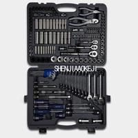 150pcs Set Auto Repair Tools Multifunction Set Combination Ratchet Wrench Screwdriver Portable Car Repair Box BLPATSCM150