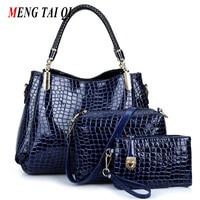 Women Bag 2016 New Crocodile Pattern Leather Bags Women Shoulder Bags Ladies Purses And Handbags High
