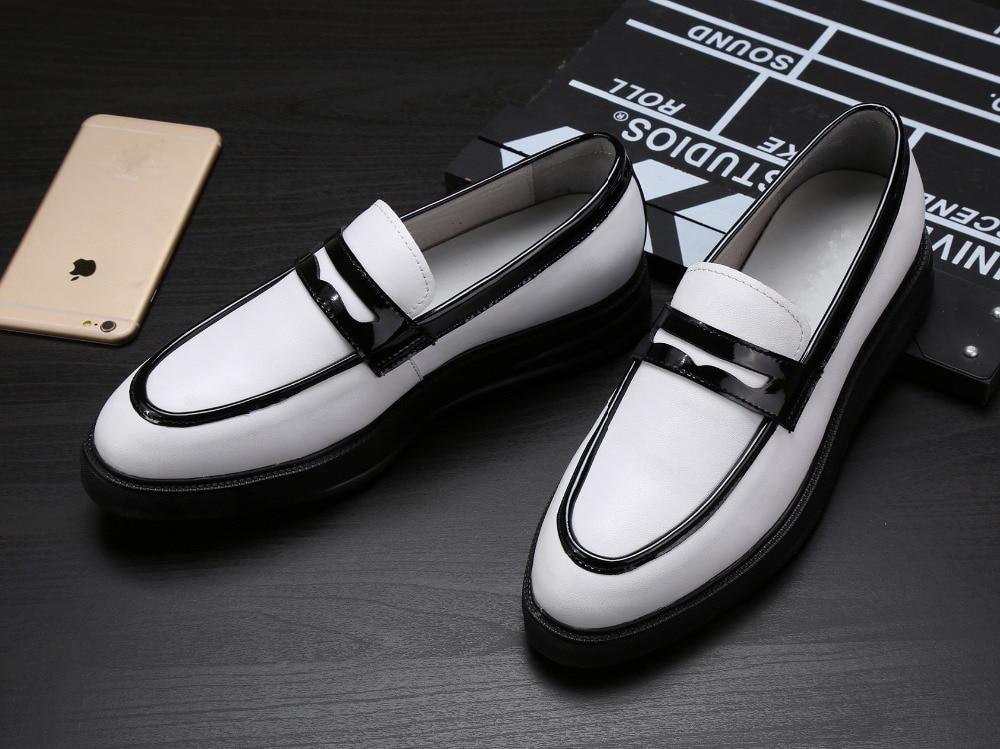 Толстые каблуки человек кроссовки на платформе кожаные туфли 2018 белый мужские свадебные туфли оксфорды весна осень мужские кеды элегантны