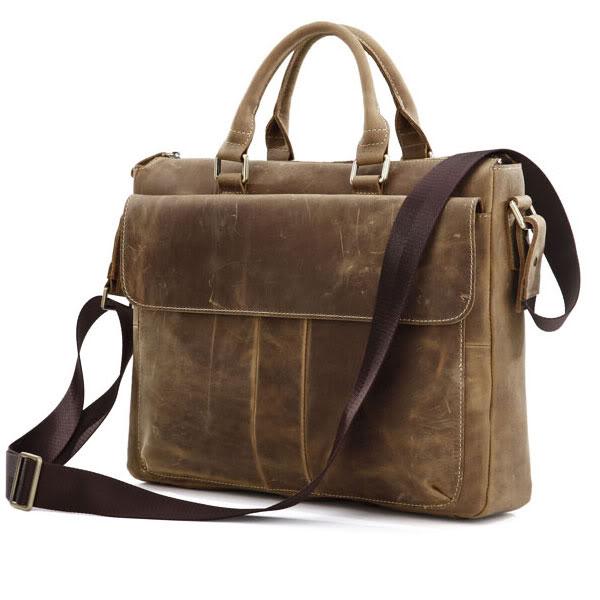 все цены на J.M.D Vintage And Classic Office Handbag Durable Cow Leather Briefcase Bag For Business Men 7113B