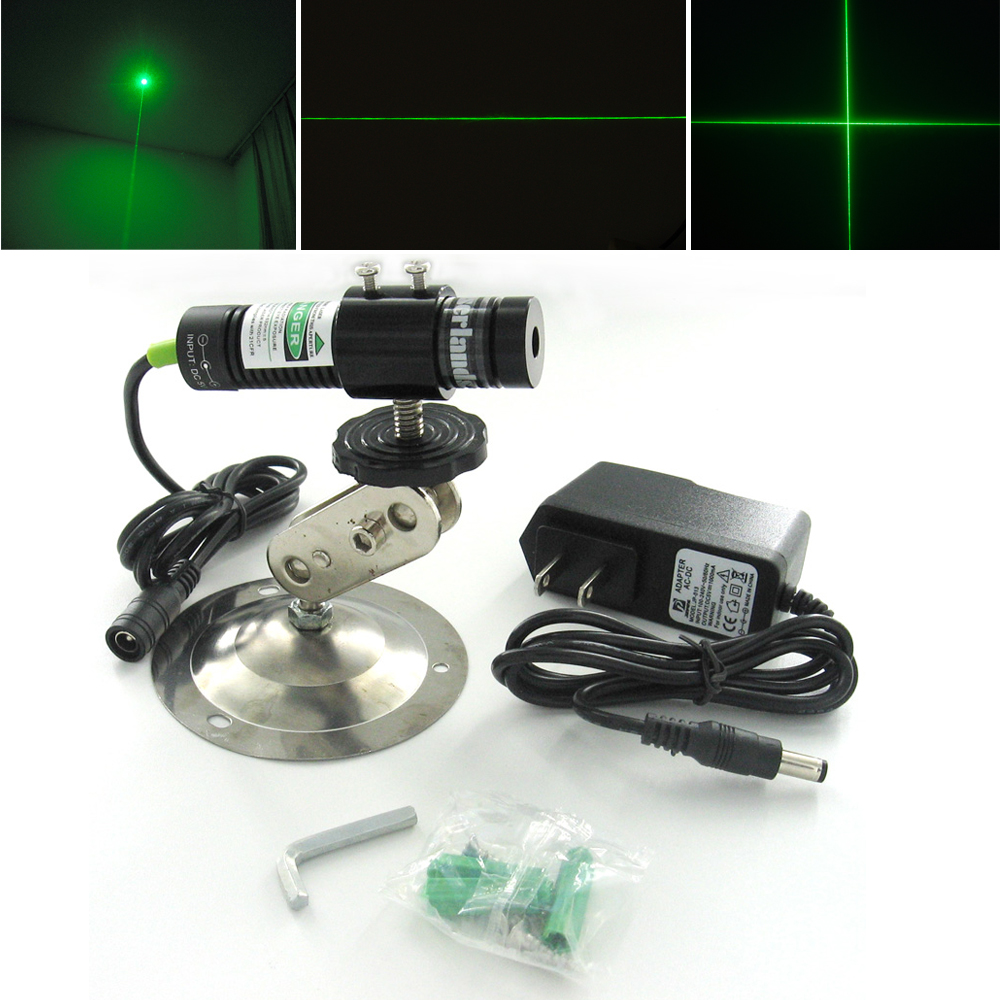 1875 532nm 10mW 20mW 30mW 50mW Dot Line Cross Green Laser Module Locator w AC DC