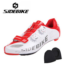 Sidebike Road Bike Shoes Men Self-Locking Ride Bicycle Shoes Carbon Lightweight Highway Lock Cycling Shoes Road Cycling Shoes