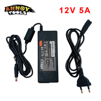 Switching Power Adapter DC 12V 5A LCD Monitor Power AC100-240V LED Transformers Power supply