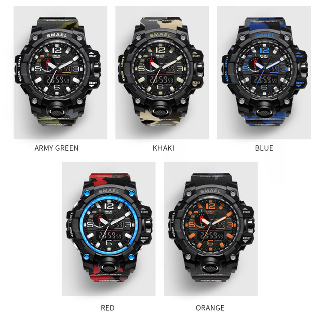 2017 Sport Men Digital Watch Men Led Dual Display Shockproof Waterproof WristWatch Wrist Army Male Relogio Masculino Hodinky 41