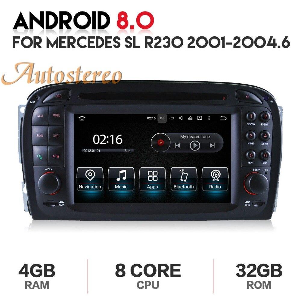 Newest android8 Car GPS Navigation Car radio DVD player Headunit For Mercedes Benz SL R230 SL500 2001-2007 multimedia Satnav zeniss s200 android8 0 car dvd player for mercedes benz slk r171 slk200 slk280 slk350 with quad core gps radio