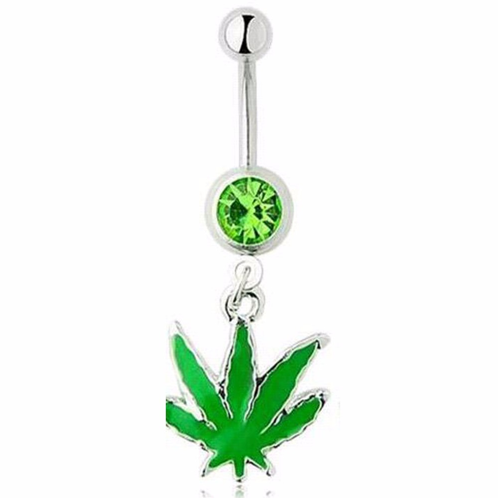 HTB1Pwk7MpXXXXXLXpXXq6xXFXXXP Weed - 420 Design Belly Button Navel Rings