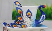 Grande pavão xícara de café cerâmica canecas criativas