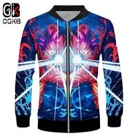 OGKB 2018 Men's Funny Print Dragon Ball Z 3d Zip Jacket Anime Kamehameha Coats Man Hipop Streetwear Tracksuits Sweats Blouse 6XL