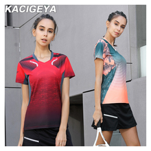 Badminton Shirt Sports Women Brand Quick Dry Breathable Table Tennis Team Running Fitness Exercise Training T Shirts
