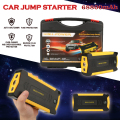 High Capacity 69800mAh Car Jump Starter Portable Great Discharge Rate Auto Power Bank with 4USB 3LED Compass Safety Hammer CS007