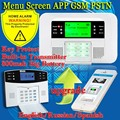 Бесплатная Доставка! До G4B PSTN GSM Английский Русский Испанский Голос беспроводной проводной ЖК-APP интерком Главная Охранная Охранной сигнализации система