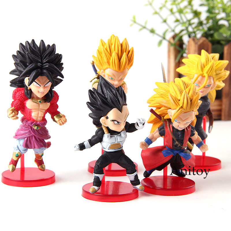Super Dragon Ball Heroes Super Saiyan Broly Vegeta Son Goku Action Figure Toy Dragonball WCF World Collectable Figure 5pcs/set lady bug dolls