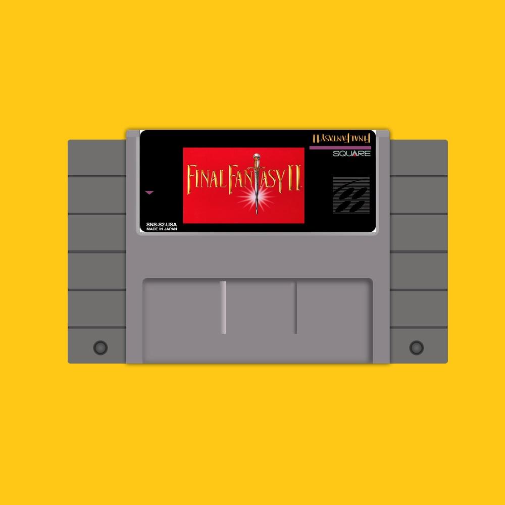 Final Fantasy 2 Sparen Sie 16 bit Großen Grauen Spielkarte Für USA NTSC Spiel Player