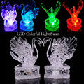 Акриловые лебедь красочный светодиодные светоизлучающих подарки Горячие Игрушки