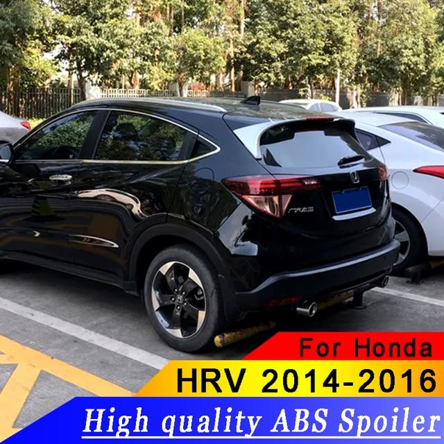 For Honda Hrv 2017 2016 Spoiler High Quality Abs Material Car Rear Wing Primer Color Hr V Vezel