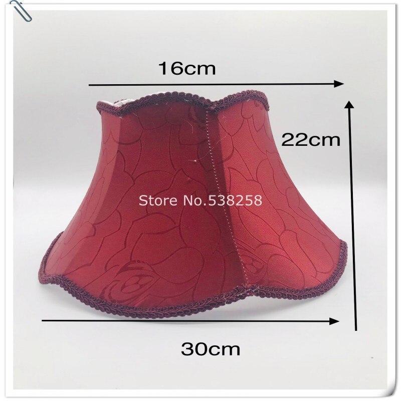 E27 абажур для настольной лампы красного/бежевого цвета тканевый абажур современный стиль Арт Деко крышка лампы для настольной лампы