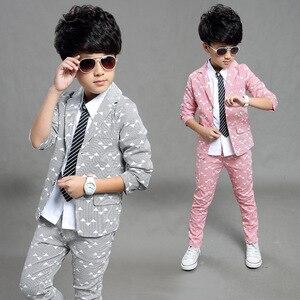 Image 1 - Gentleman anzug für junge Einreiher jungen anzüge für hochzeiten kostüm enfant garcon mariage jungen jogging garcon blau grau
